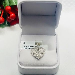 Jewelry - 14 KT GOLD Diamond Heart Pendant with Star Detail